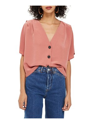 Topshop pleat shoulder blouse