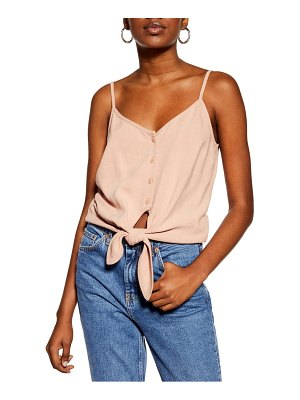 Topshop polly tie front camisole