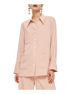 Topshop popper shirt