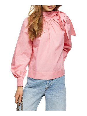 Topshop pussybow poplin blouse