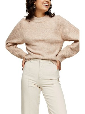 Topshop ribbed sleeve detail sweater
