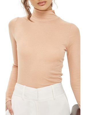 TOPSHOP Ribbed Turtleneck Top