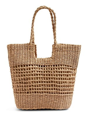 Topshop rio braided handle woven tote