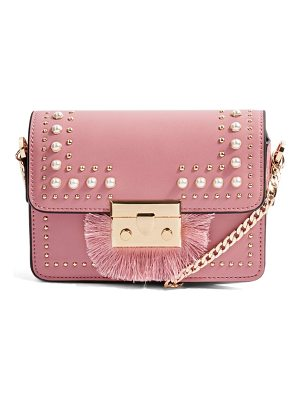 TOPSHOP Rosie Imitation Pearl Fringe Crossbody Bag