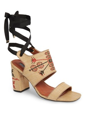 Topshop roxanne embroidered lace-up sandal