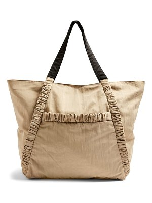 Topshop ruched tote bag