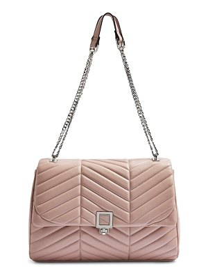 Topshop sasha quilted faux leather shoulder bag