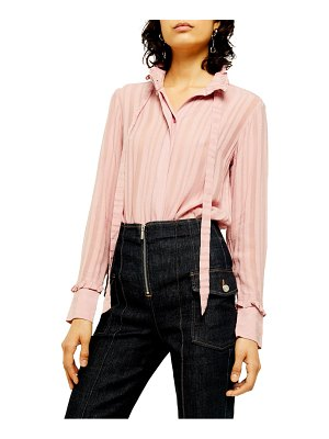 Topshop self stripe blouse