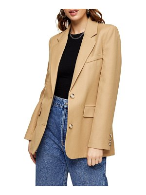Topshop single breasted girlfriend blazer