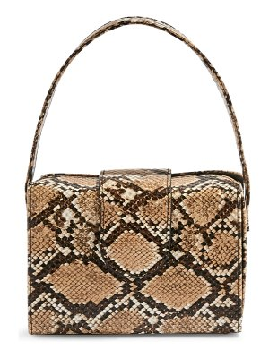 Topshop snake embossed faux leather handbag