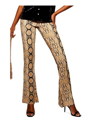 Topshop snake flare trousers