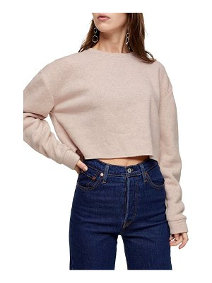 Topshop soft crop sweatshirt