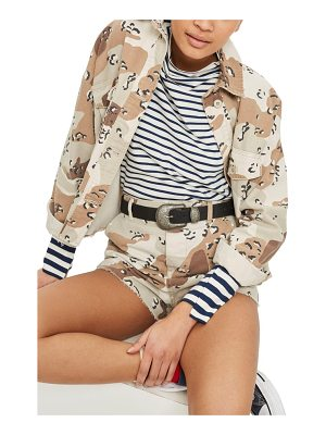 TOPSHOP Spot Camouflage Shacket