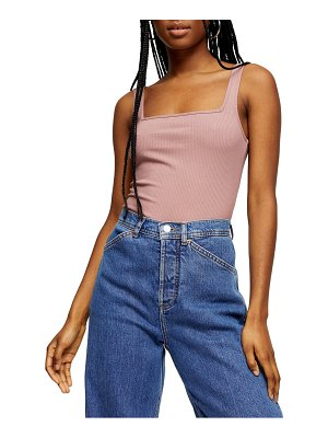 Topshop square neck ribbed bodysuit