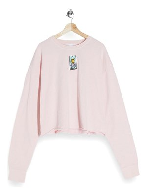 Topshop star crop sweatshirt