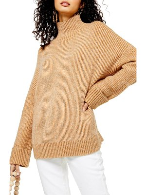 Topshop supersoft wide sleeve turtleneck sweater