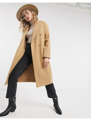 Topshop tailored coat in camel-tan