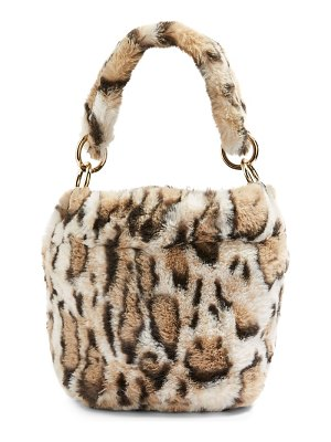 Topshop teddy faux fur bucket bag
