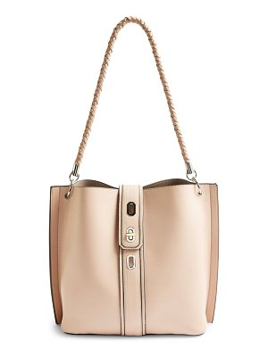 Topshop turn lock hobo bag