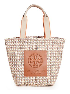 Tory Burch basket weave printed small tote