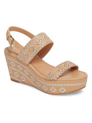 Tory Burch blake embroidered platform wedge