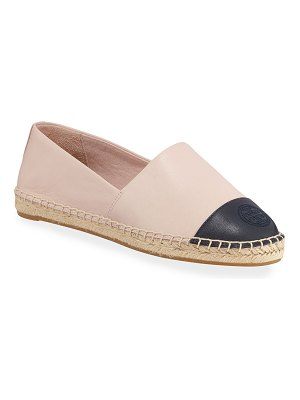 Tory Burch Colorblock Cap-Toe Espadrille Flat