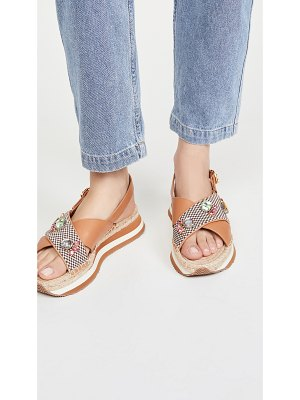 Tory Burch daisy crystal sandals