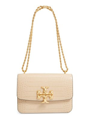 Tory Burch eleanor croc embossed leather convertible shoulder bag