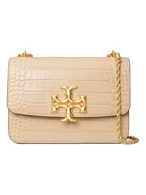 Tory Burch eleanor croc-embossed leather shoulder bag