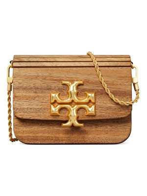 Tory Burch eleanor small wood & leather shoulder bag