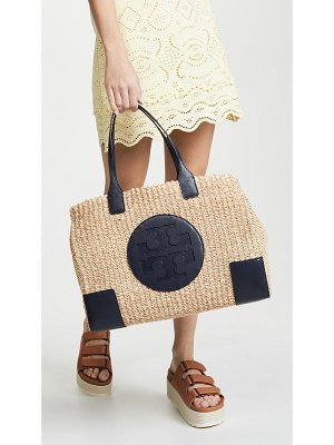 Tory Burch ella straw tote bag
