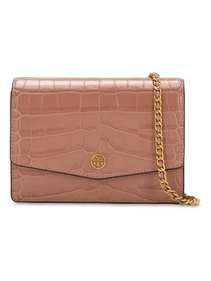 Tory Burch Embossed croc embossed leather bag