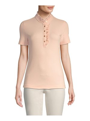 Tory Burch emily ruffled polo tee