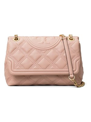 Tory Burch fleming soft quilted lambskin leather shoulder bag