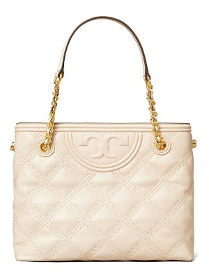 Tory Burch Fleming Soft Quilted Leather Tote Bag