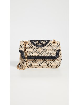 Tory Burch fleming soft straw shoulder bag