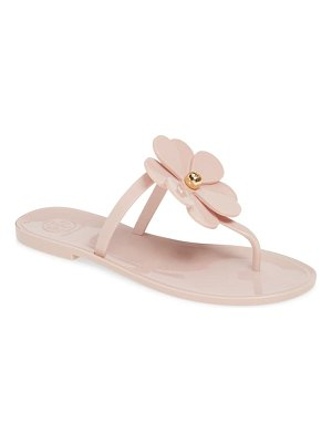 Tory Burch floral jelly flip flop