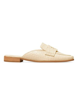 Tory Burch georgia croc-embossed leather loafer mules