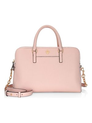 TORY BURCH Georgia Double-Zip Leather Satchel