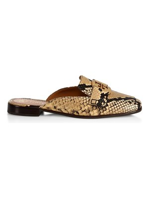 Tory Burch georgia snake-embossed loafer mules