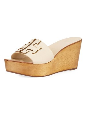 9dd628657 Tory Burch Faux-Fur Scallop Wedge Slide Sandals