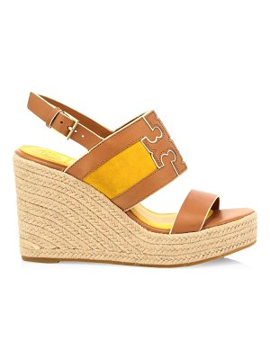 Tory Burch ines leather platform espadrille wedges
