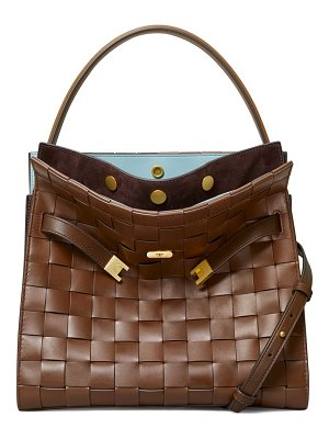 Tory Burch lee radziwill woven leather satchel