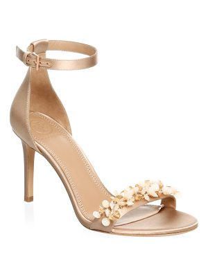 Tory Burch logan embellished floral sandals