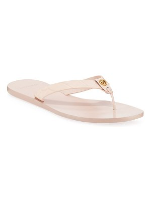 Tory Burch Manon Embossed Leather Thong Sandals
