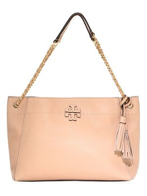 Tory Burch mcgraw leather tote bag