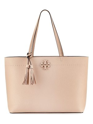 TORY BURCH Mcgraw Pebbled Leather Tote Bag