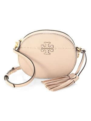 TORY BURCH Mcgraw Round Leather Crossbody Bag