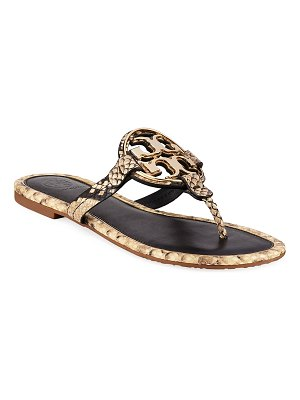 Tory Burch Metal Miller Slide Sandals
