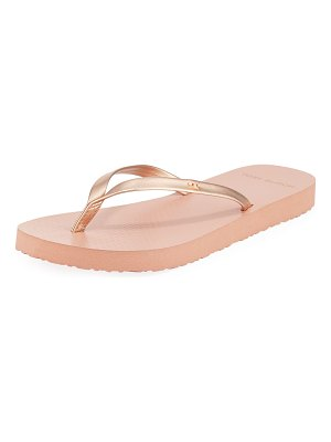 Tory Burch Metallic Leather Flip-Flops